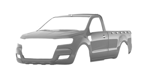 Цвета кузова Ranger Single Cab